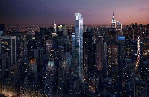 מבט לילי על מגדל One 57