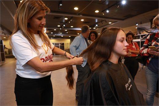 תרומת שיער מעמותת פלא בדיזנגוף סנטר | צילום: אלי דסה