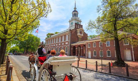 """פילדלפיה. בבניין העיריה שלה הוכרז על עצמאותה של ארה""""ב. צילום: shutterstock"""